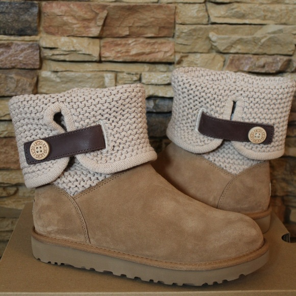 5596762d4b3 UGG SHAINA CHESTNUT SUEDE SWEATER BOOTS NEW! Boutique